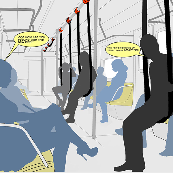 Metro Hanging Seats 1 by Keon Designs