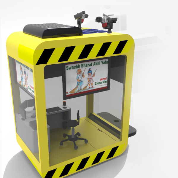 Traffic Police Cabin Design 3 by Keon Designs