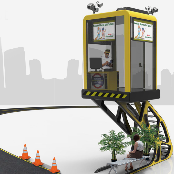 Traffic Police Cabin Design 2 by Keon Designs